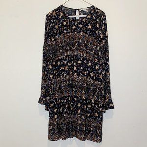 AE Boho Embroidered Floral Long Sleeve Dress M